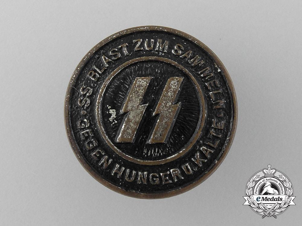 An SS BLÄST ZUM SAMMELN GEGEN HUNGER U KALTE Badge