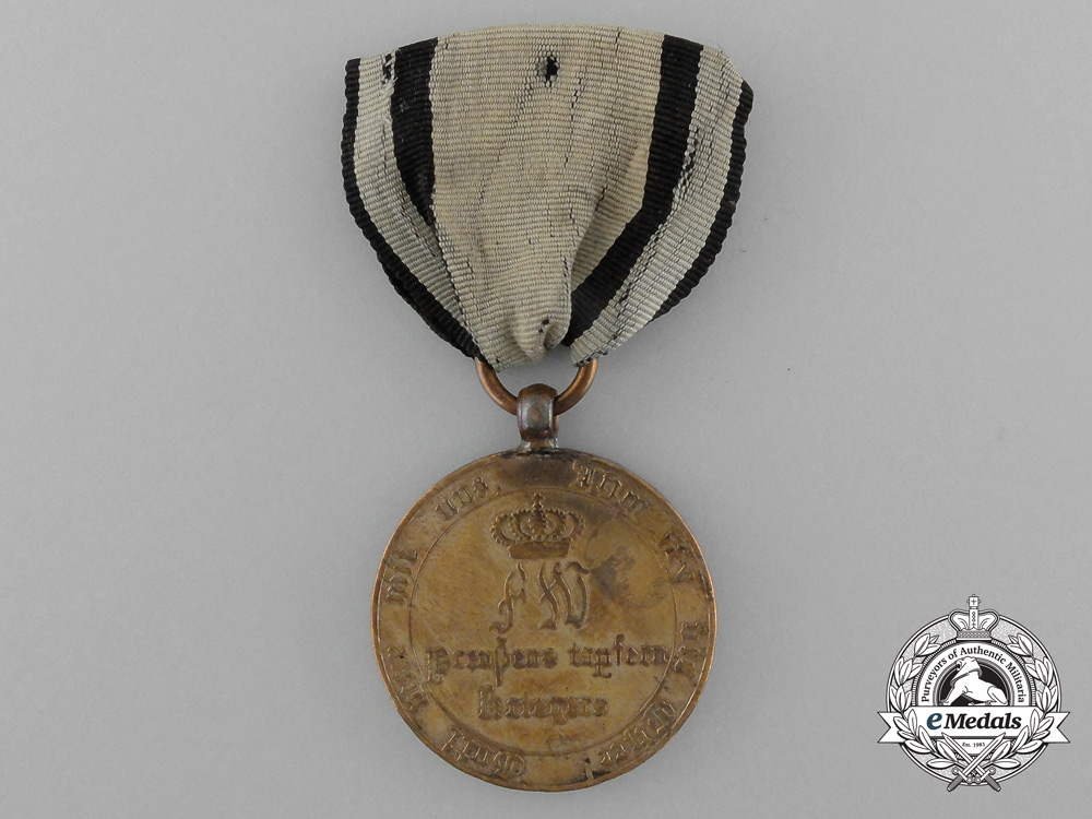 A 1813-1814 Prussian Campaign Medal for Combatants