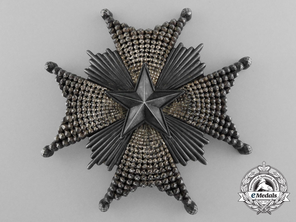 A Swedish Order of the North Star; Grand Cross by C.F. Carlman