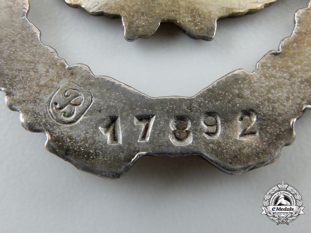 A First War French Pilot's Badge, c. 1918