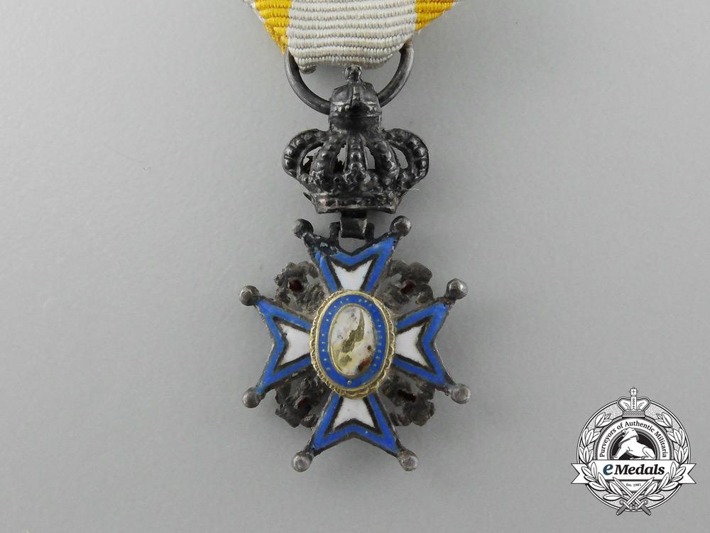 A Miniature Serbian Order of St. Sava; First Model (1882-1903)