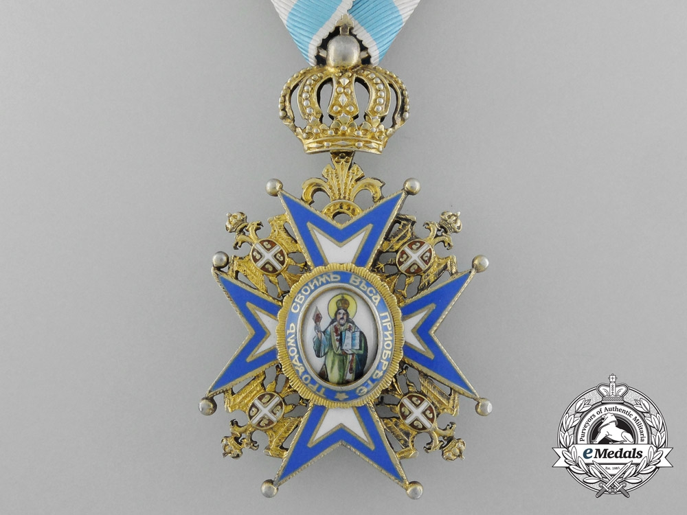 A Serbian Order of St. Sava; Officer, Fourth Class
