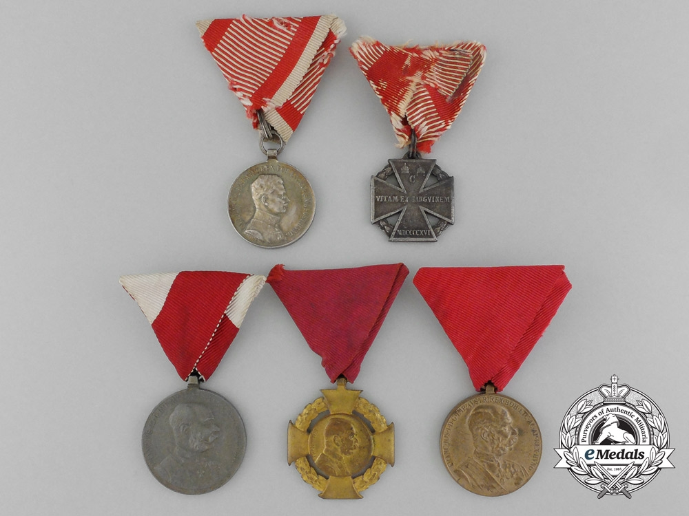 Five Austrian Medals & Awards