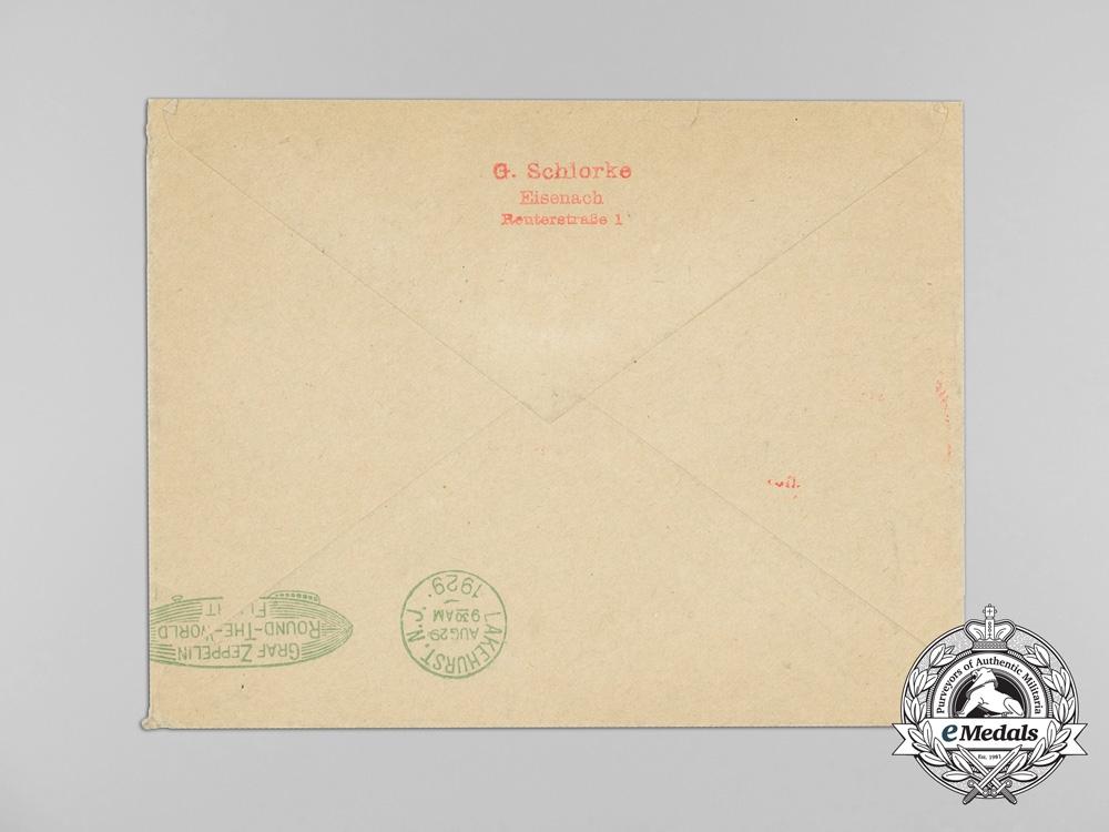 "A Historic Graf Zeppelin ""Around the World Tour"" Airmail Envelope"