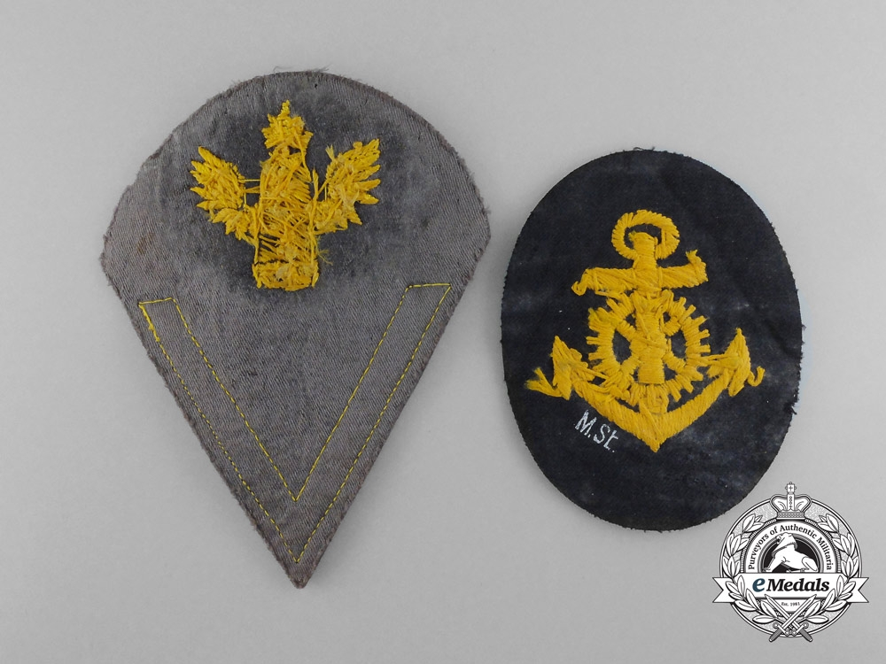 A Lot of Two Kriegsmarine Insignia