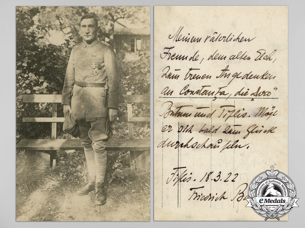 Three Picture Postcard of Bavarian and Prussian Airmen