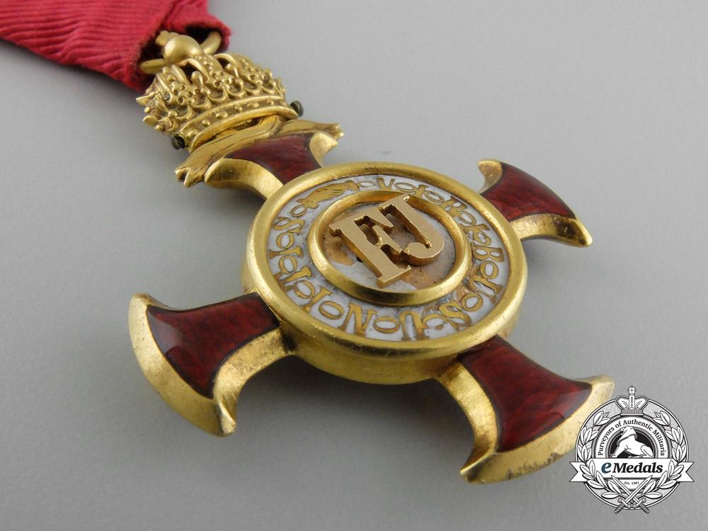 Austria, Empire. A Golden Cross of Merit with Crown by, Braun of Vienna