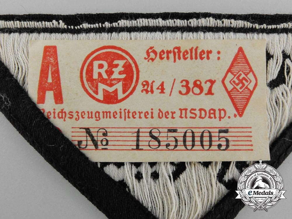 An HJ/DJ Austrian South-East Carinthia District Sleeve Patch; RZM Tagged