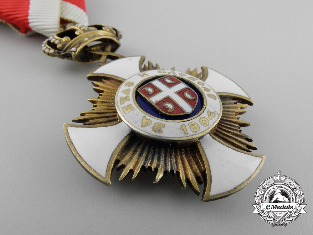 Serbia, Kingdom. An Order of the Star of Karageorge, IV Class, by Bertrand, c.1918