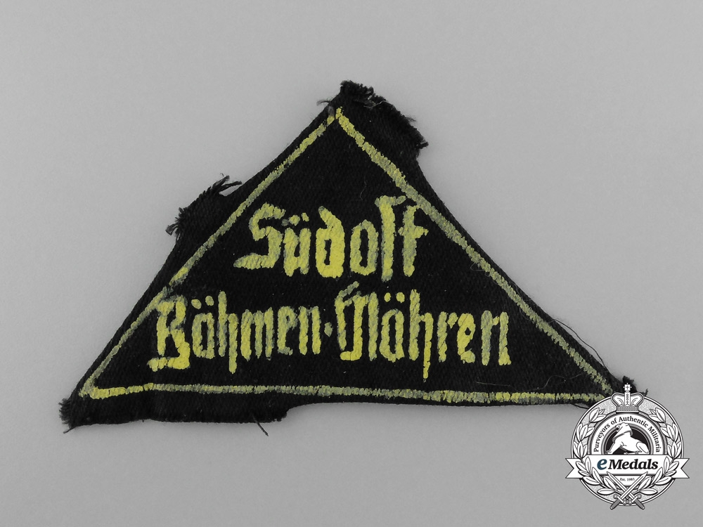 An Unusual Regionally Made HJ Southeast Bohemia/Moravia Sleeve Patch