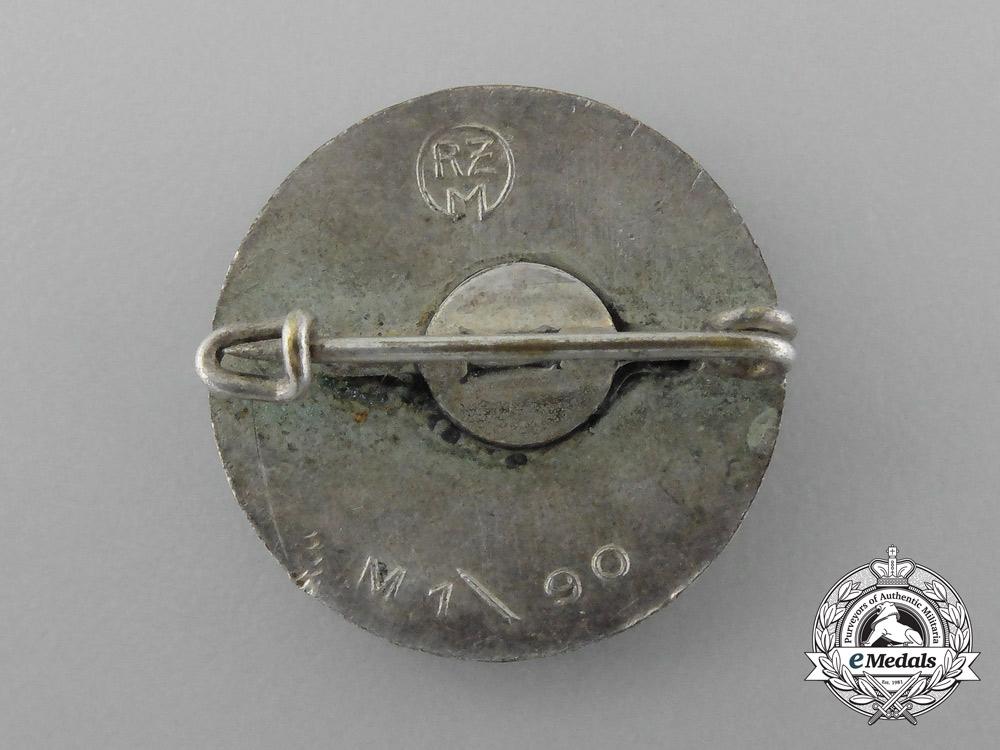 A NSDAP Party Member's Lapel Badge by Rare Maker Apreck & Vrage
