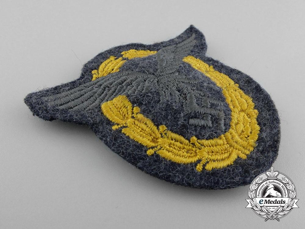 A High Quality Luftwaffe Pilot/Observer's Badge; Cloth Version