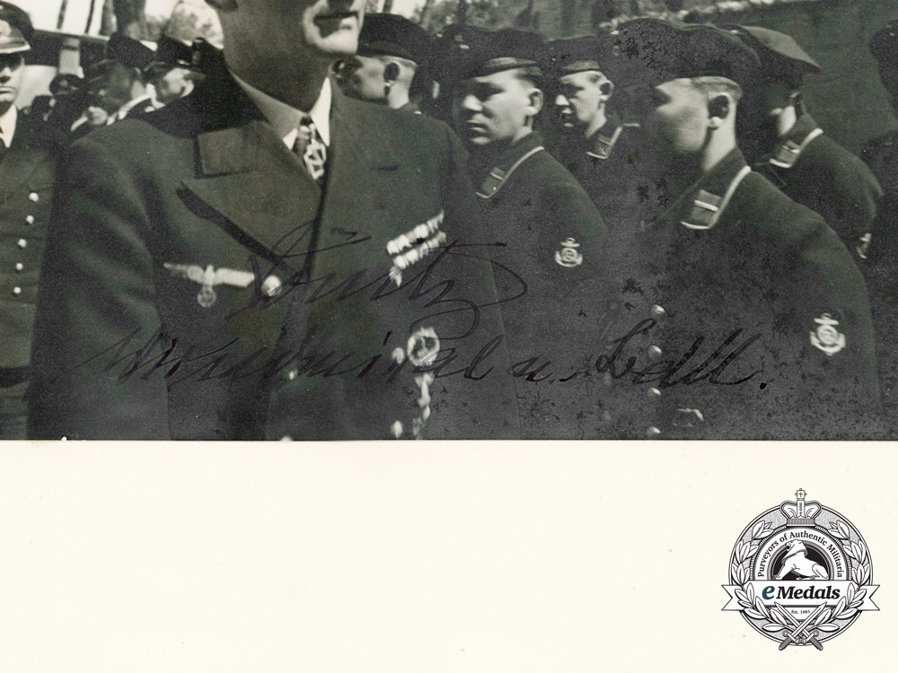 A Large Signed Photograph of Vice Admiral Karl Dönitz