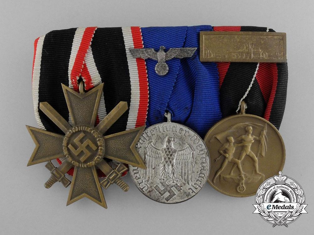 A Second War Wehrmacht Merit & Long Service Medal Bar