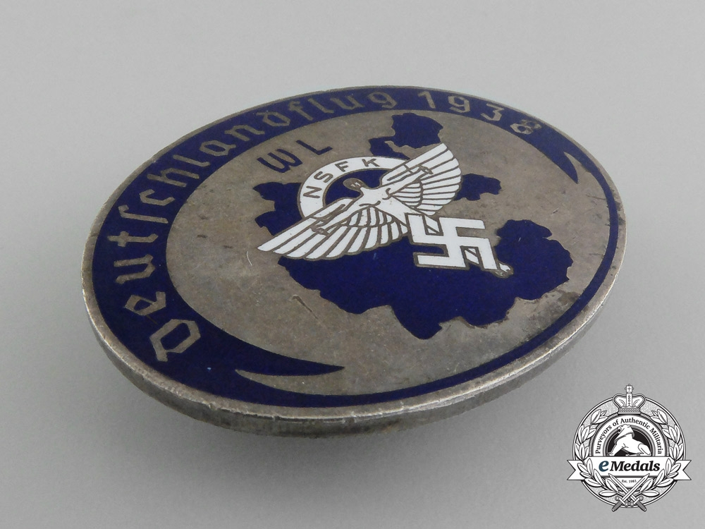 A 1938 NSFK Germany-Flight Badge by G.Brehmer