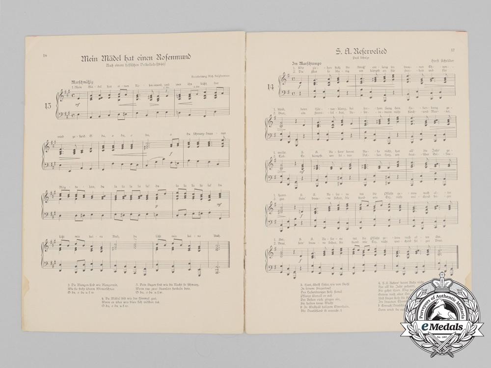 A 1933 SA Marching Songbook/Marschlieder Album