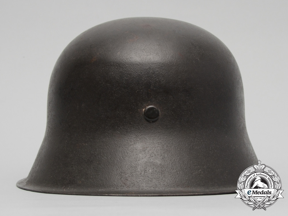 An Outstanding M42 Waffen-SS Combat Helmet with Single C.A. Pocher Reverse Decal