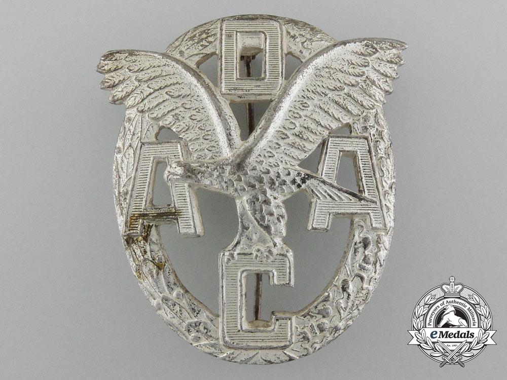 An ADAC Motor Sports Badge; Silver Grade by Wiedmann