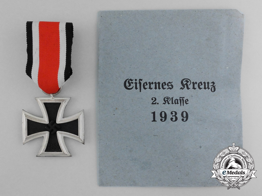 A Mint Iron Cross 1939 Second Class with Original Packet of Issue by F.W. Assmann & Söhne