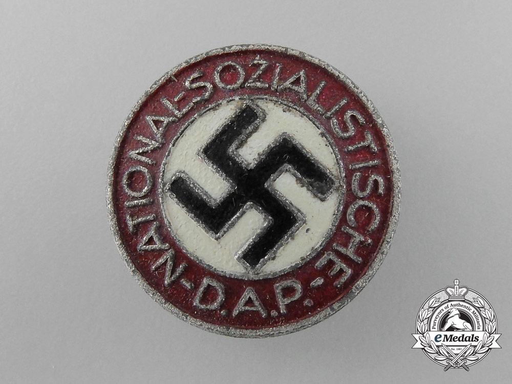 An Early NSDAP Membership Certificate of Friedrich Gudermann with Badge by Matthias Öschsler & Sohn