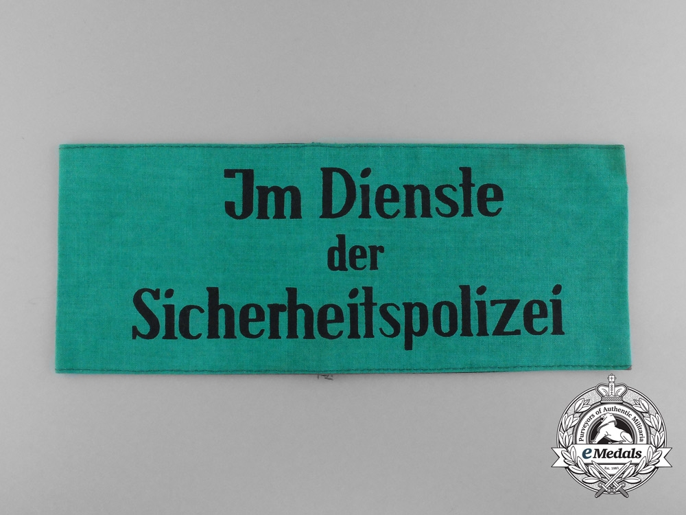 A German Second War Period Auxiliary Security Police Armband