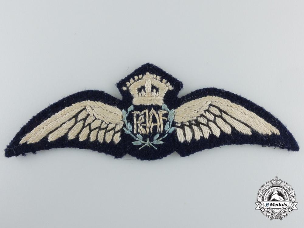 A Second War Royal Australian Air Force (RAAF) Pilot Wings