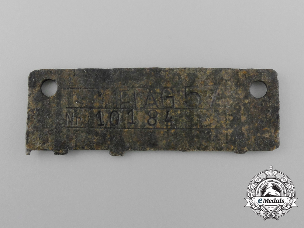 """An Officers Only """"Oflag"""" Prisoner of War Camp (Offizierslager) Identification Tag"""