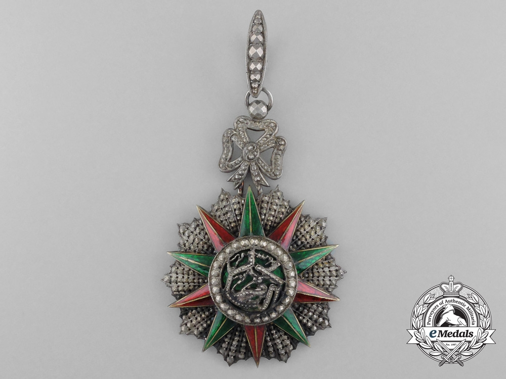 A Tunisian Order of Glory (Order of Nichan Iftikhar); Commander's Neck Badge, c. 1906-1922