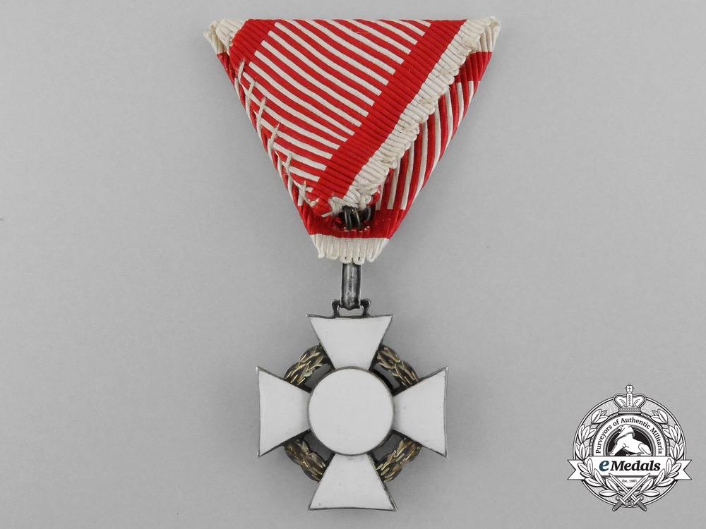An Austrian Military Merit Cross; 3rd Class by V.Mayer