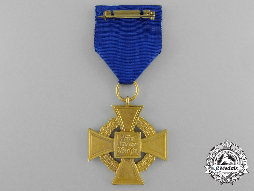 A German Faithful Service Medal for Forty Years' Service with Case