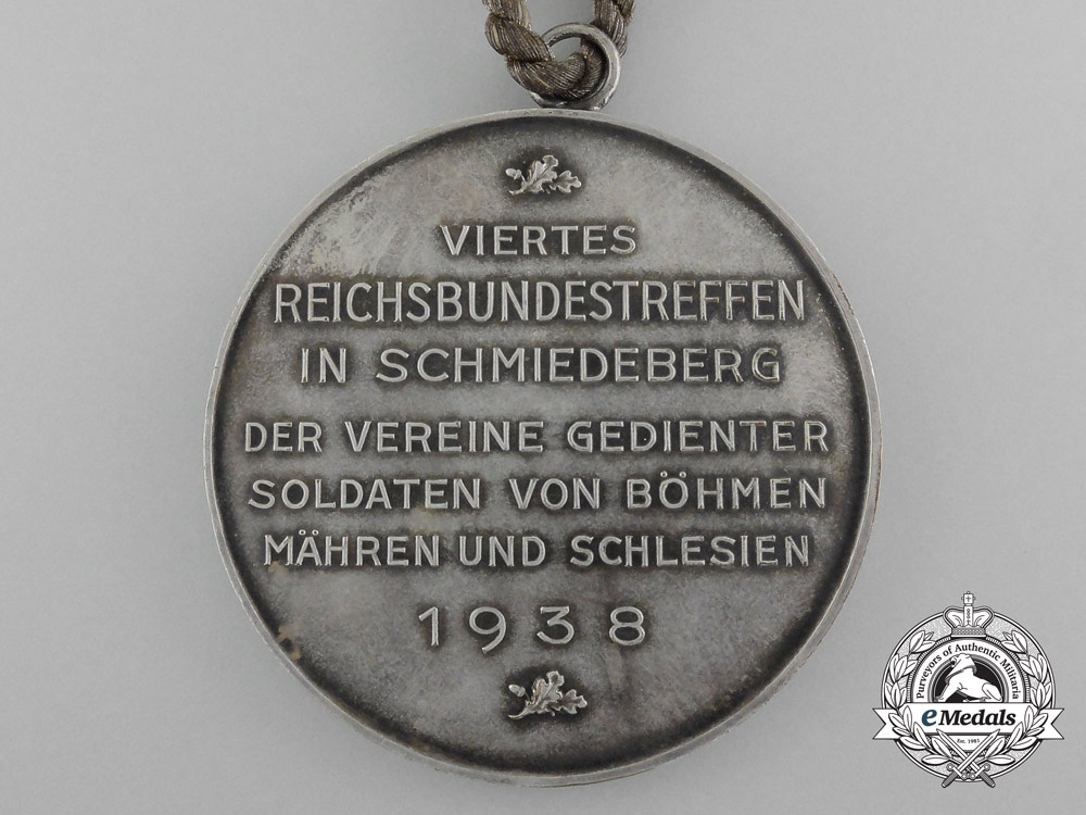 Germany, Third Reich. A 1938 Veteran's Association Meeting Plaque of Retired Soldiers from Bohemia, Moravia, and Silesia