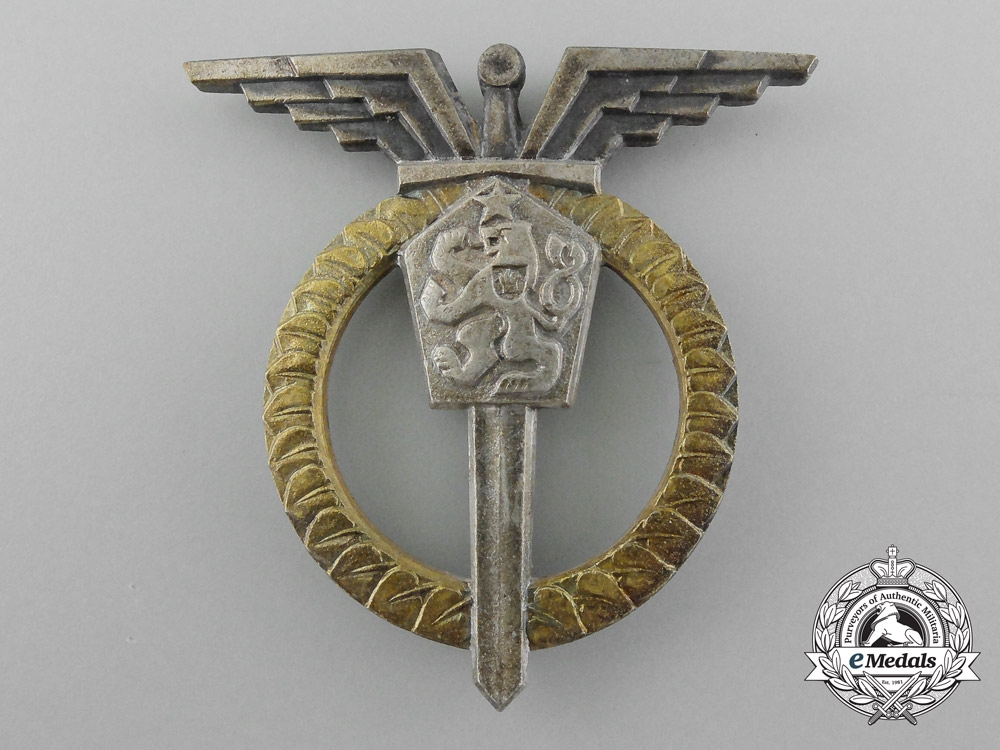 A Czechoslovakian Air Force Navigator Badge, 2nd Class