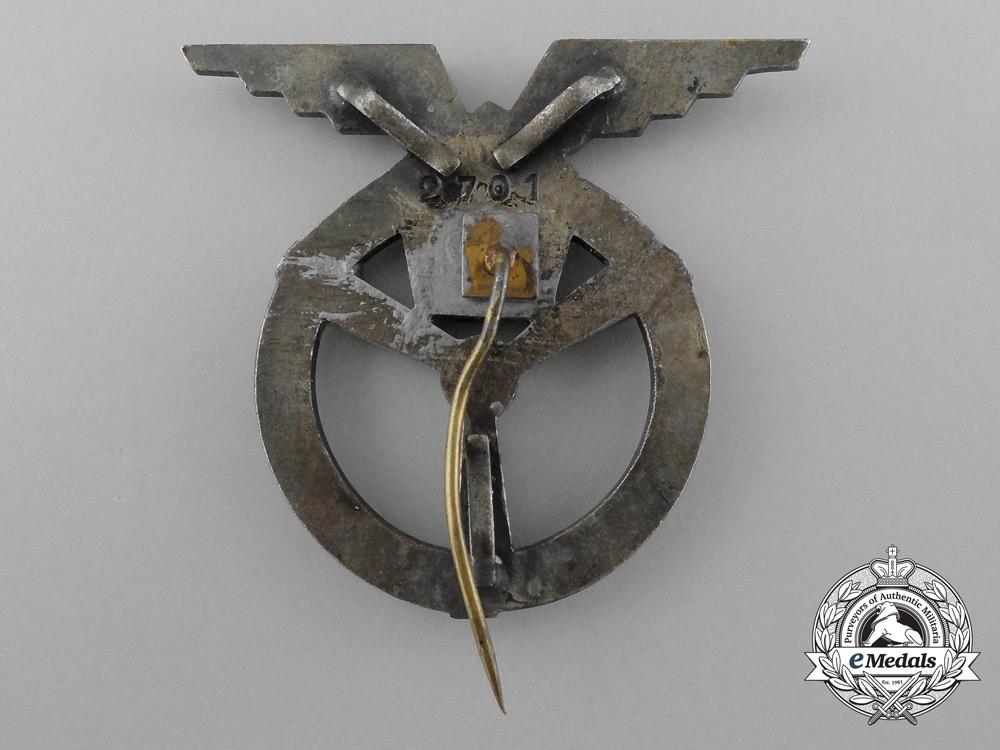 A Czechoslovakian Air Force Ground Air Mechanic Badge, 3rd Class