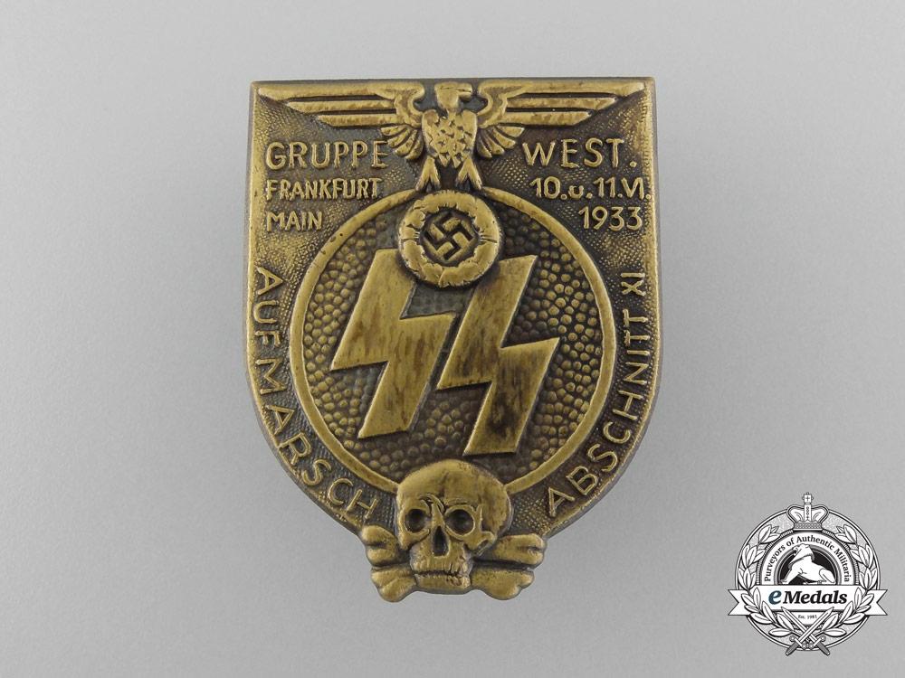 A 1933 SS Aufmarsch Abschnitt XI Gruppe Frankfurt Badge