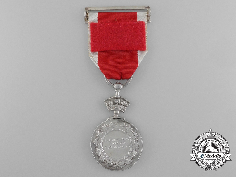 An Abyssinian War Medal 1867-1868 to Painter 2nd Class John Purchase; H.M.S. Argus