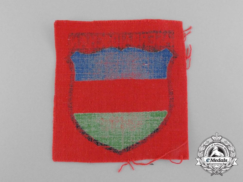 A Mint Azerbaijani Volunteer Service Sleeve Insignia