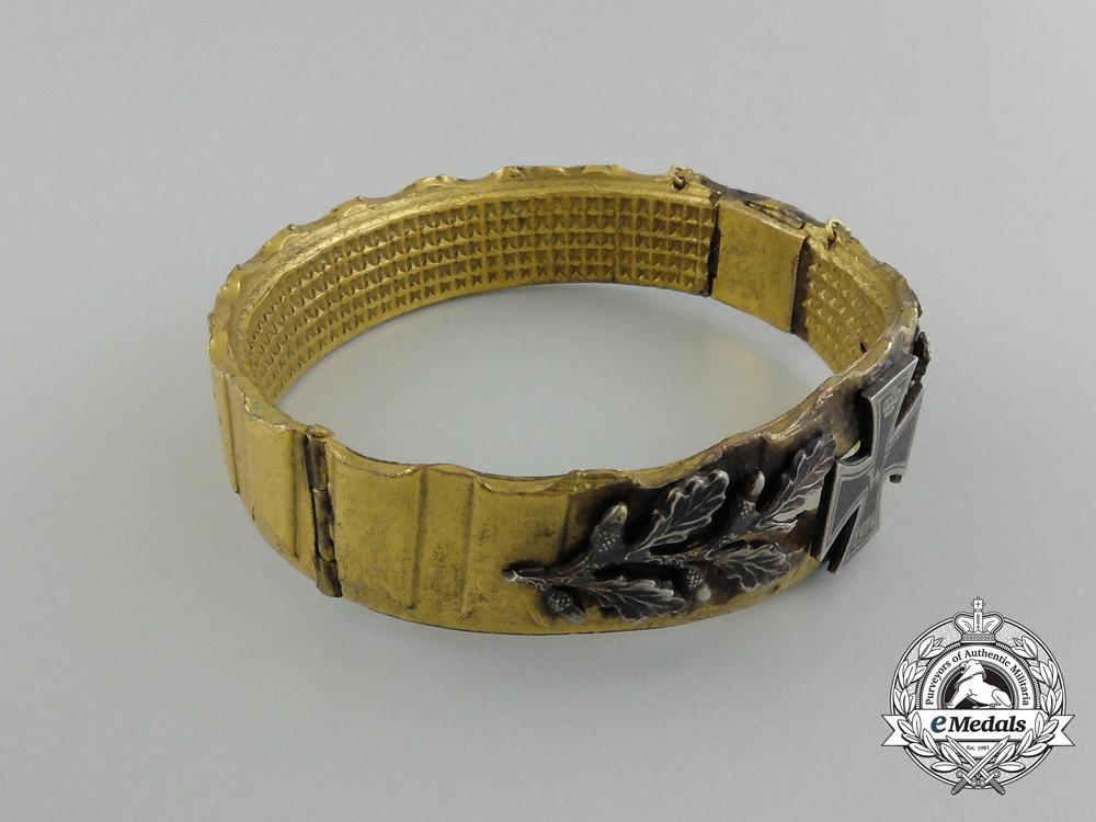 A First War German Imperial Patriotic Iron Cross Bracelet