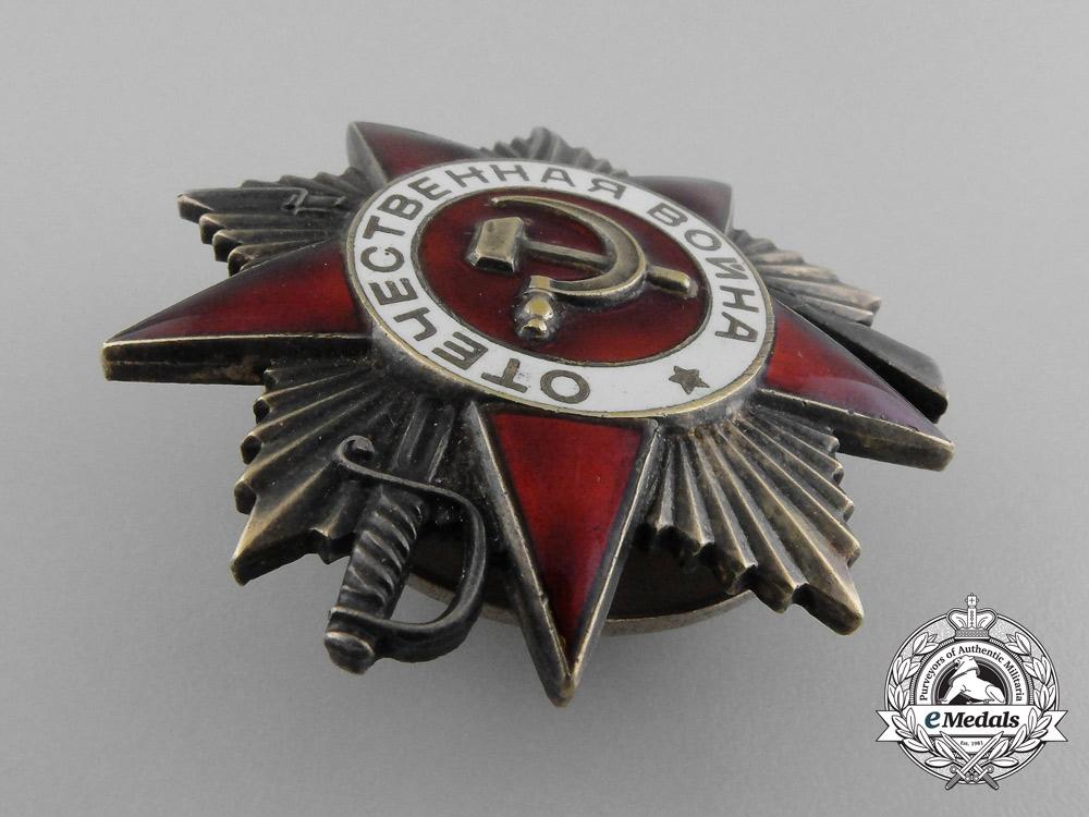 A Soviet Russian Order of the Patriotic War, 1st Class,