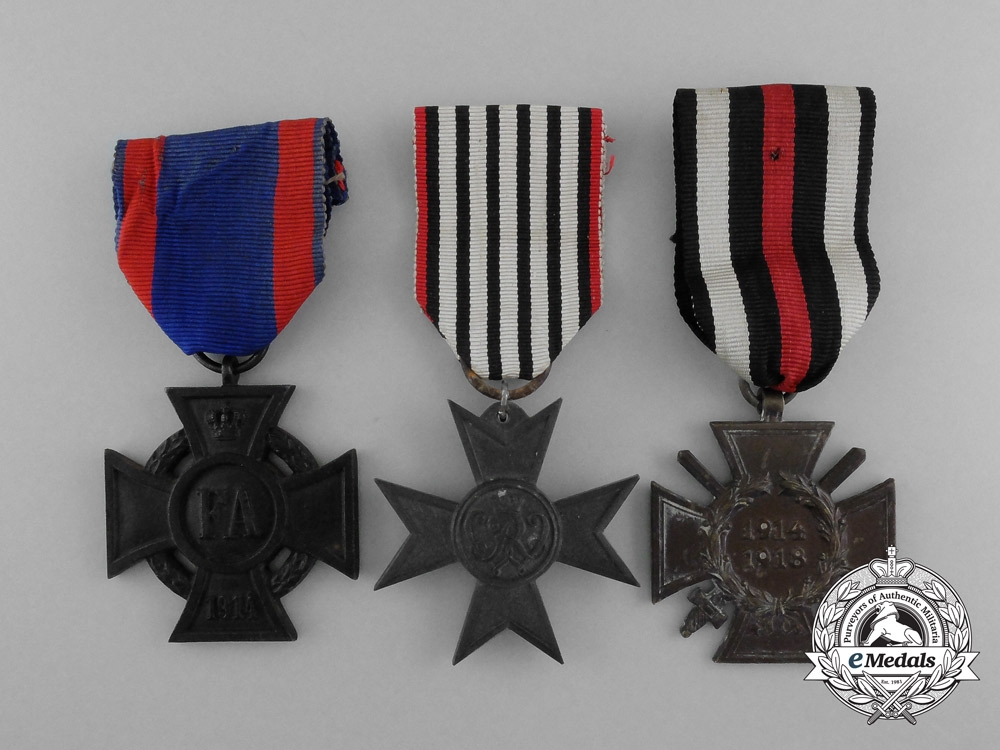 Three First War German Imperial Medals & Awards