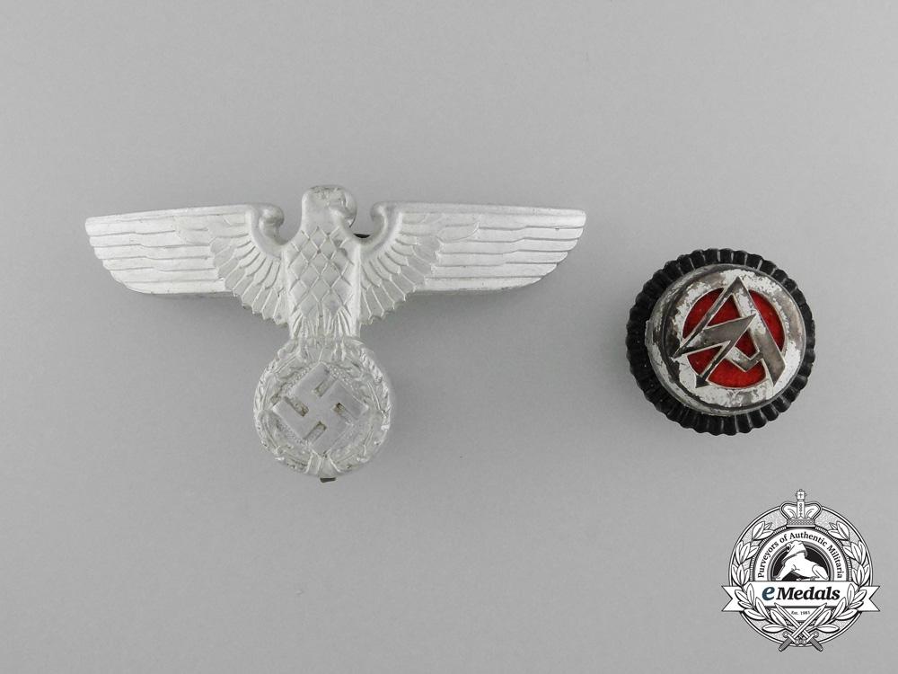 Two SA/Political Cap Insignia
