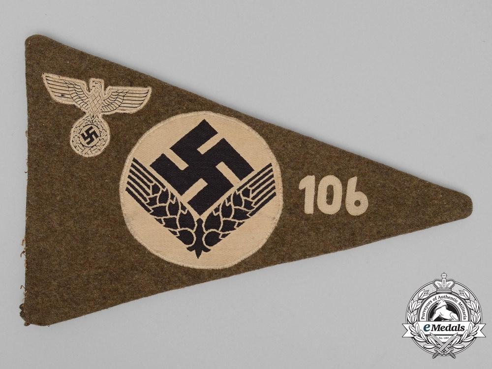 A Rare Reichsarbeitsdienst Female Unit 106 (Niederschlesien) Car Pennant