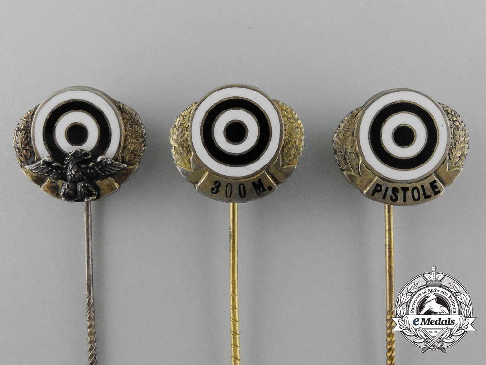 A Lot of Three Hunting and Sport Shooting Award Stick Pins