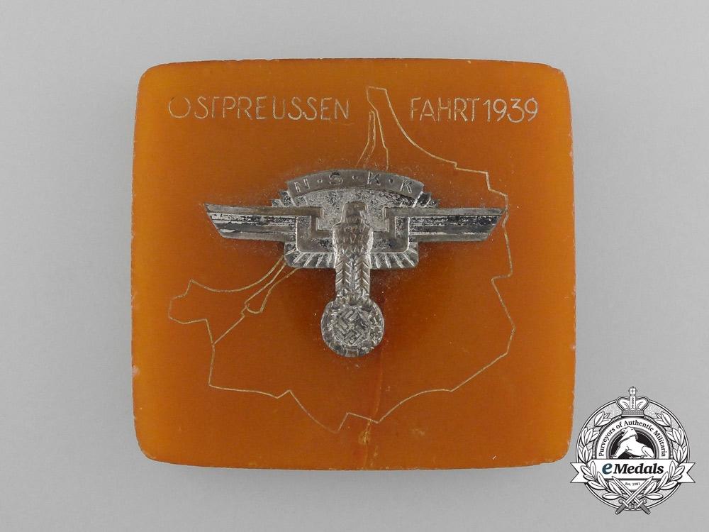 An N.S.K.K. Ostprussen Plaque/Award