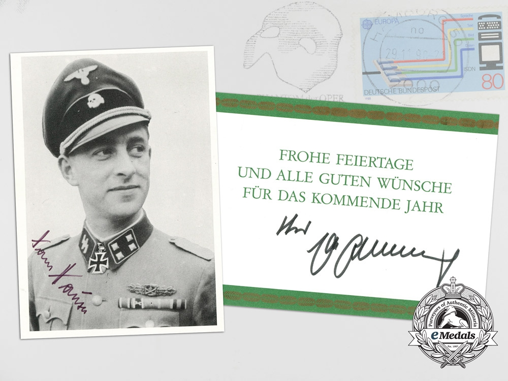 A Signed Photo of RK Recipient Hans Hauser; Sent by Boxing Legend Max Schmelin
