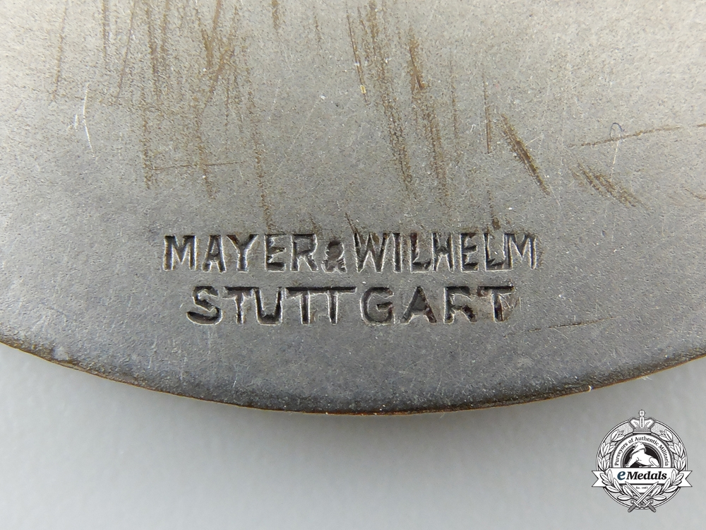 A Very Rare 10. SS-Motorstandarte Plaque 1935