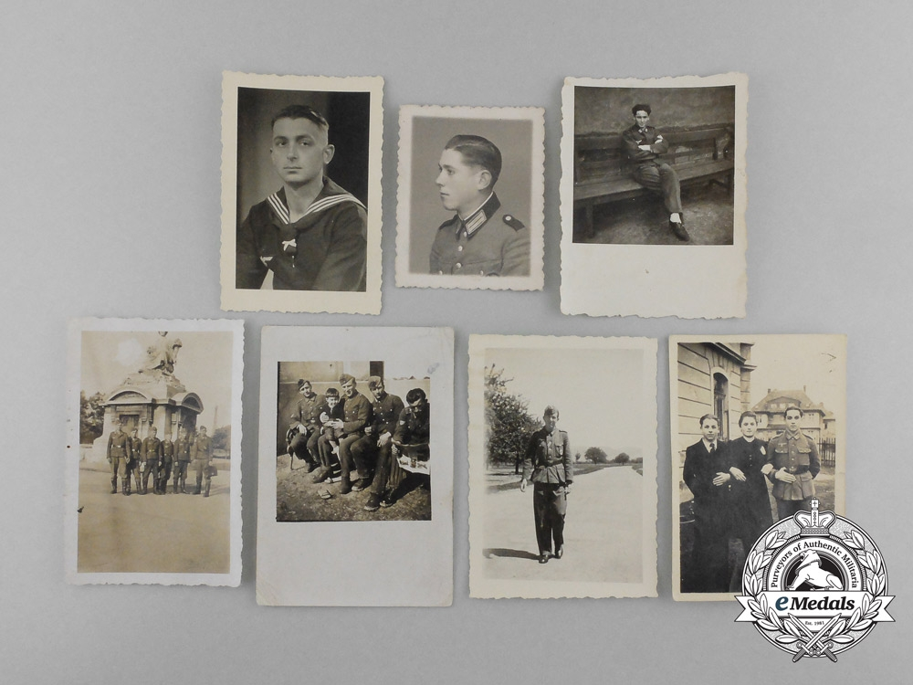 Seven Second War German and Croatian Photographs