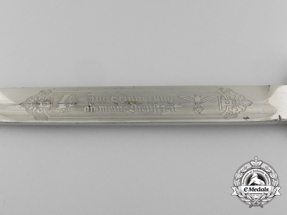 A Long Model Etched Wehrmacht Bayonet
