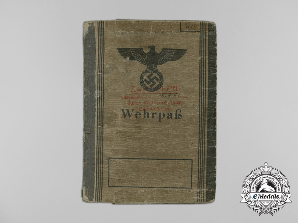 A Wehrpaß to the 17th SS Panzer Grenadier Division; D-Day & Normandy