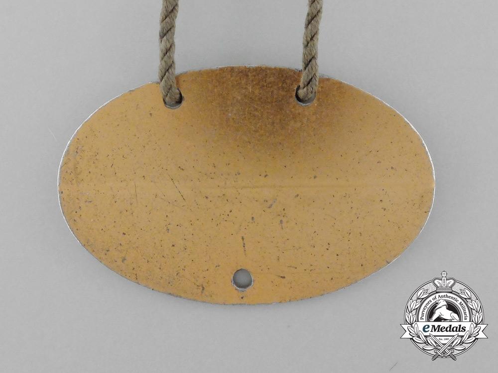 A Scarce Kriegsmarine Identification Tag on Original String Necklace