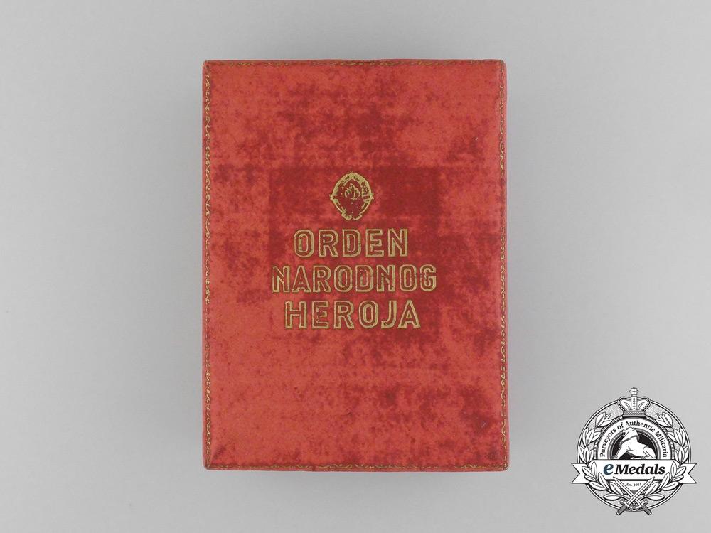 The 1953 Order of the People's Hero with Award Document to Croatian President Marijan Cvetković